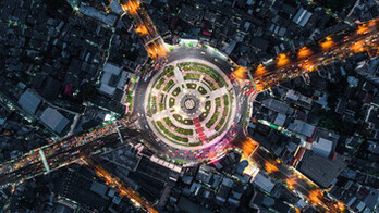 circular, roundabout, city, big city, thought leader, our thinking,
