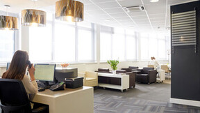 Regus Offices, UK,Leicester,1500m²,Regus,Elmsmere Ceilings,Helios Photography,ROCKFON Artic,white